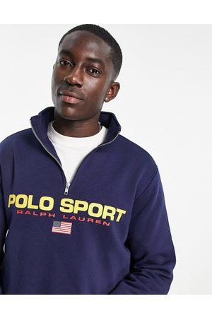 Polo Ralph Lauren Sport capsule retro flag logo half zip sweatshirt in