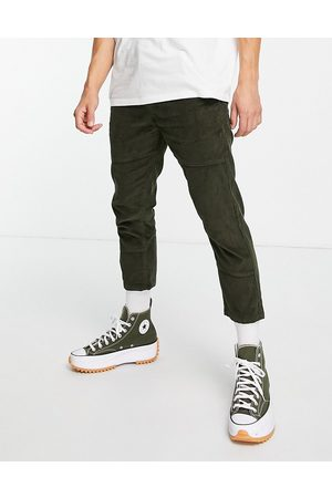Another Influence Pants with front pocket detail in olive