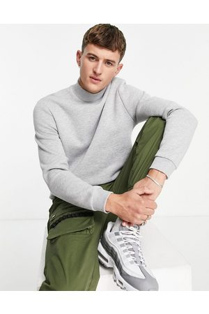 ASOS Sweatshirt with turtle neck in grey marl
