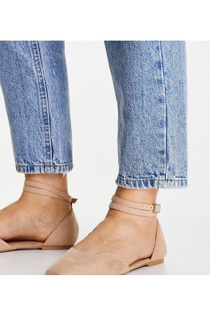 ASOS Wide Fit Lift ballet flats in -Neutral