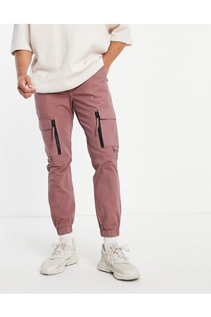 Topman Skinny cargo pants with zip detail in