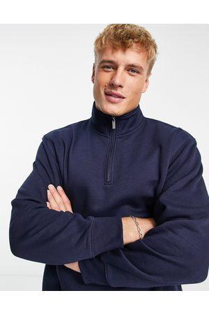 Topman (part of a co-ord) half-zip sweatshirt in