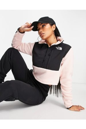 The North Face Denali cropped fleece jacket in pink