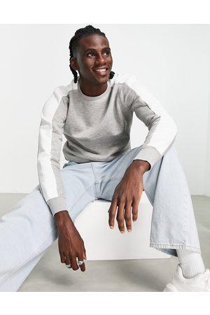 Le Breve Panel sweatshirt in light grey