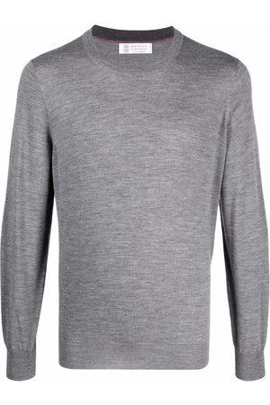 Brunello Cucinelli Men Sweatshirts - Crewneck cashmere-wool jumper