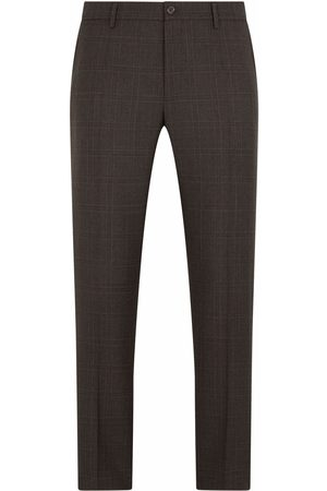 Dolce & Gabbana Men Formal Pants - Tailored wool check trousers