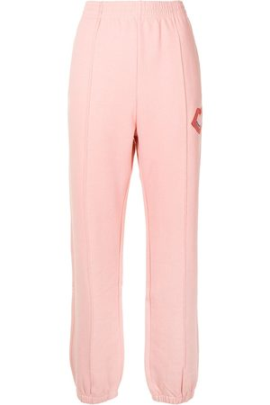 Markus Lupfer Lips-embroidered jersey sweatpants
