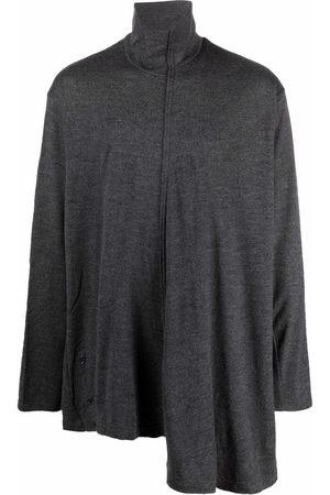 YOHJI YAMAMOTO Men Turtlenecks - Asymmetric roll-neck wool jumper