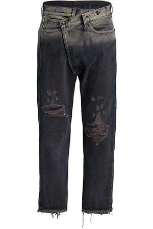 R13 Men Slim - Cross-Over Five-Pocket Jeans