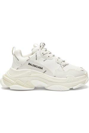 Balenciaga Women Sneakers - Triple S Faux-leather Trainers - Womens