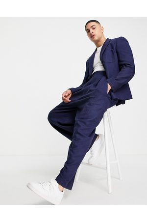 ASOS Men Formal Pants - High waisted balloon wool mix twill suit pants in