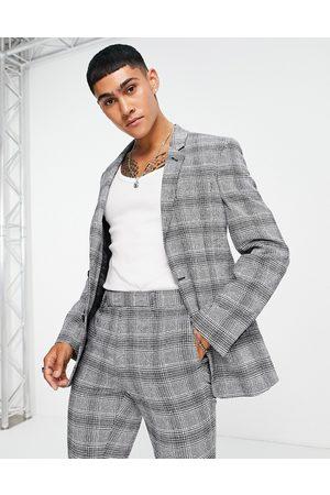 ASOS Super skinny suit jacket in check