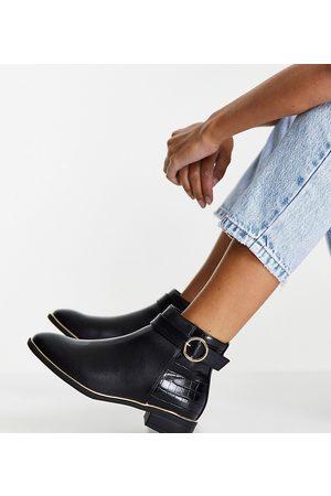 Miss KG Wide Fit Haylee buckle Chelsea boots in