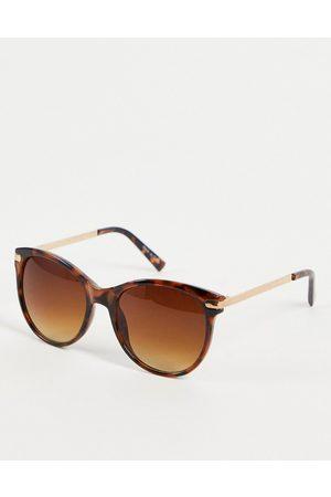 Accessorize Women Sunglasses - Rubee flattop oversize sunglasses in tortoise shell-Brown