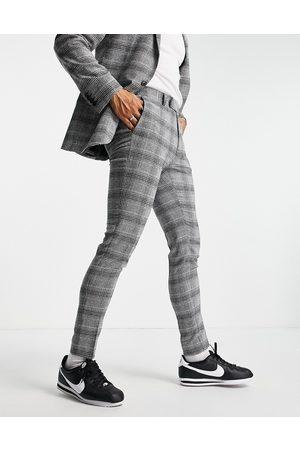 ASOS Men Formal Pants - Super skinny suit pants in check