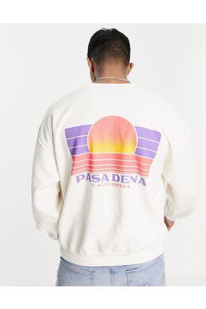Topman Pasadena oversized sweatshirt in -Neutral