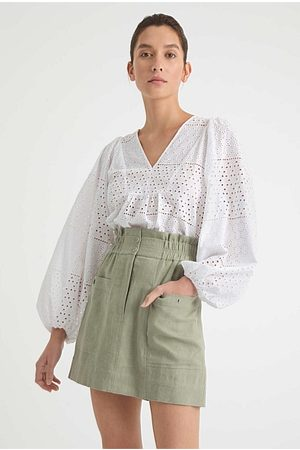 WITCHERY Broderie Lace Blouse