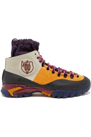Eye/LOEWE/nature Men Boots - Logo-appliqué Panelled Boots - Mens - Multi