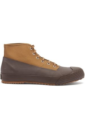 MOONSTAR Alweather Lace-up Canvas And Rubber Boots - Mens