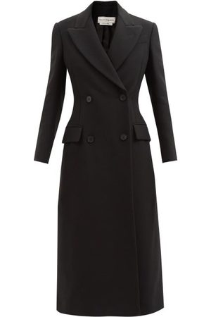 Alexander McQueen Women Coats - Lace-up Double-breasted Wool-blend Coat - Womens