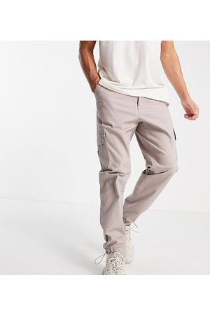 ASOS Tapered cargo pants in brown-Neutral