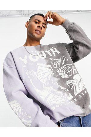 Topman Youth splice crew sweatshirt in