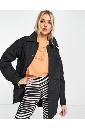 Monki Women Winter Jackets - Liv recycled quilted jacket in