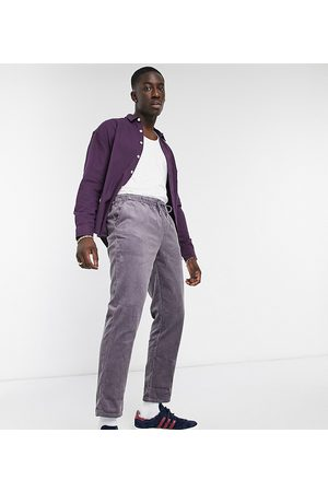ASOS Cord slim pants in washed with elasticated waist