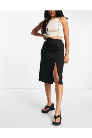 VILA Split side skirt in