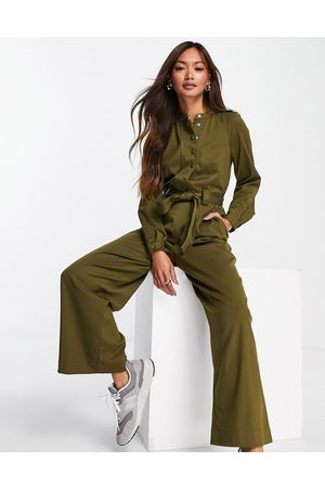 Whistles Tie front jumpsuit in -Green