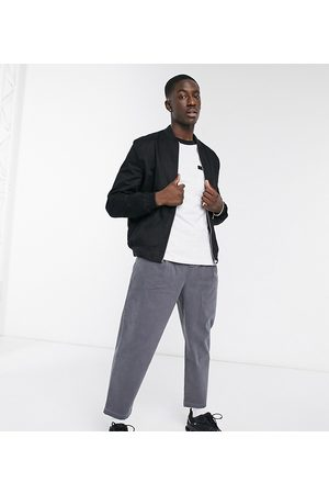 ASOS Wide leg pants with pleats in charcoal-Grey