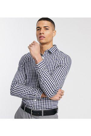 ASOS Men Business - Slim fit work check shirt in