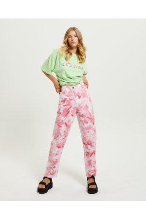 STUSSY Women Pants - Floyd Pants Tie Dye