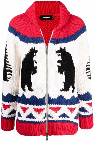 Dsquared2 Intarsia-knit zip-up jumper