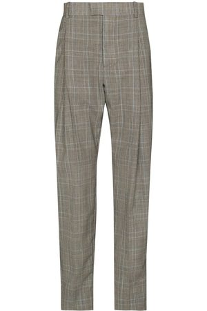 Alexander McQueen Men Formal Pants - Check-pattern tailored trousers
