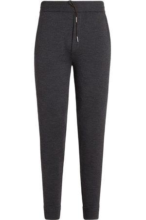 Ermenegildo Zegna Men Joggers - Wool knit jogging bottoms