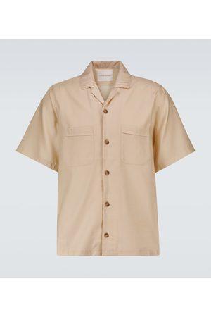 King & Tuckfield Cotton-blend bowling shirt