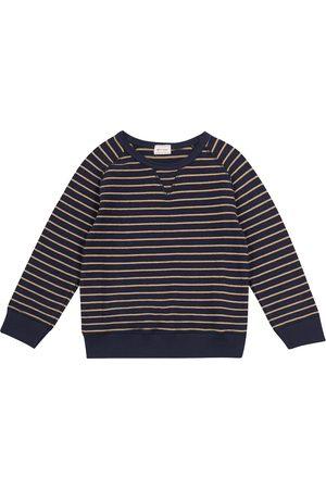 MORLEY Boys Sweatshirts - Mozes striped cotton-blend jersey sweatshirt