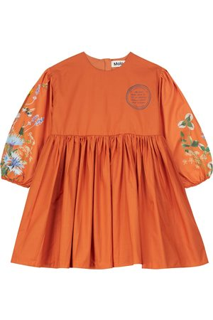Molo Women Work Dresses - Caja floral cotton poplin dress