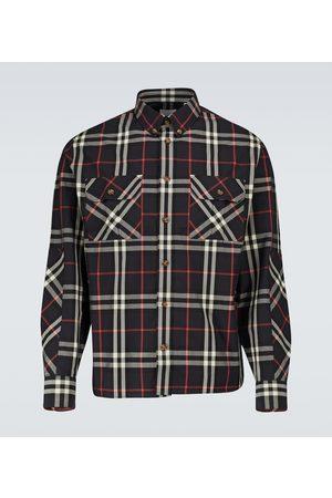 Burberry Men Long sleeves - Vintage check cotton shirt