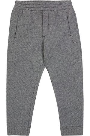 Emporio Armani Boys Joggers - Pied de poule cotton-blend sweatpants