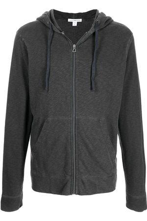 James Perse Men Hoodies - Zipped-up fleece hoodie