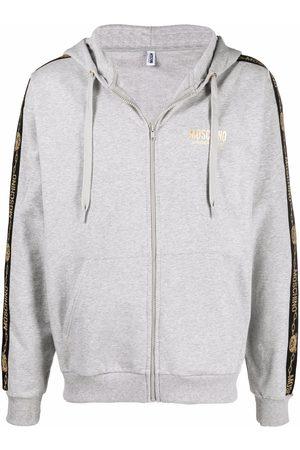 Moschino Logo-tape detail hoodie