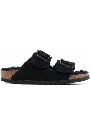 Birkenstock Shearling-trim detail sandals