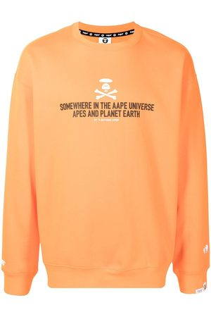 AAPE BY A BATHING APE Slogan-print cotton sweatshirt