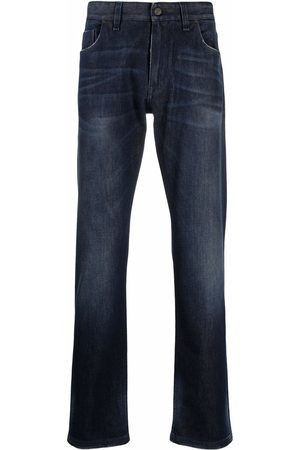 Fendi Logo-embroidered straight-leg jeans