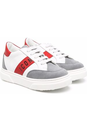 Dsquared2 Colour-block logo leather sneakers