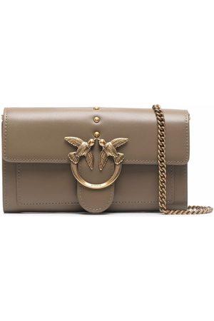 Pinko Women Shoulder Bags - Logo-plaque crossbody bag