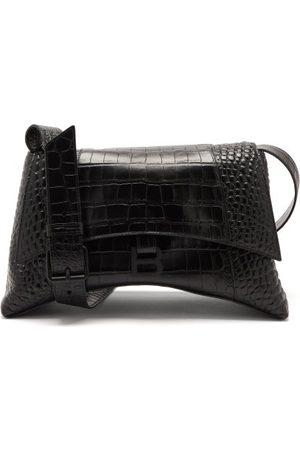 Balenciaga Women Shoulder Bags - Hourglass M Crocodile-effect Cross-body Bag - Womens