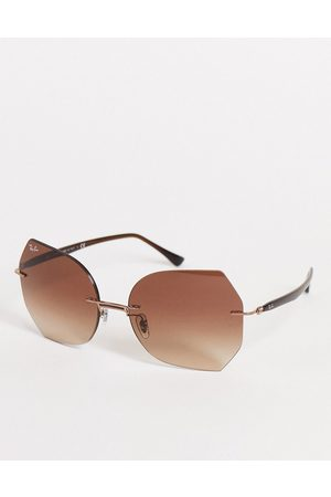 Ray-Ban Women's oversized square sunglasses in 0RB8065